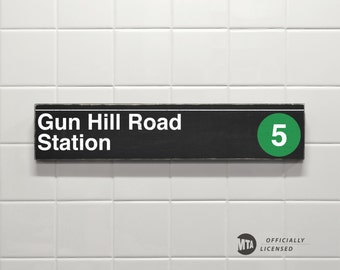 Gun Hill Road Station - New York City Subway Sign - Gun Hill Road