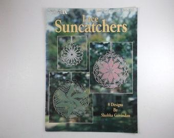 Vintage Crochet Lace Suncatchers Book by Leisure Arts 8 Suncatchers Designs by Shobha Govindan Craft Book Patterns Book Destash Supply