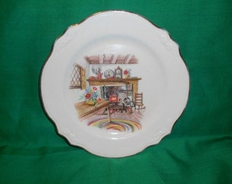 "One (1), 7 1/8"" Salad Plate, from Homer Laughlin, in the Colonial Kitchen (Virginia Rose) Pattern."