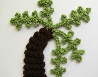 """ON SALE- 1pc 8"""" Crochet Bent PALM Tree Applique"""