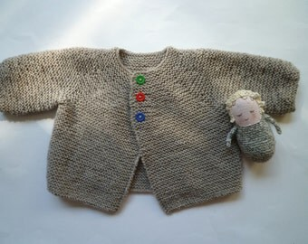 Knit baby sweater,knit baby cardigan,wool baby cardigan, free shipping