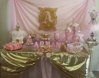 Any Color Foam board Initial in your Glitter color Party Frame