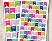 Rainbow IEP Tags, Set of 35 or 70 - Perfect for Erin Condren, Limelife, Mambi and Plum Paper Planners