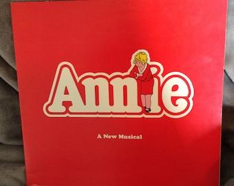 Vintage 1977 Annie Original Cast Soundtrack Broadway Recording Vinyl LP 1977 Record Album
