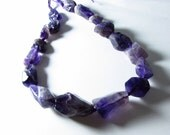 Natural Amethyst Tumbled Nuggets Graduating Beads 18mm - 34mm