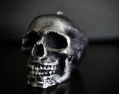 Handmade Skull Candle Black Silver