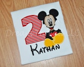 Monogram Sitting Mickey, disney, mickey mouse Birthday Shirt (made to order)