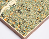 PORTLAND MAP, Ready to Hang Wood Print, Modern Wall Art for the Home Decor