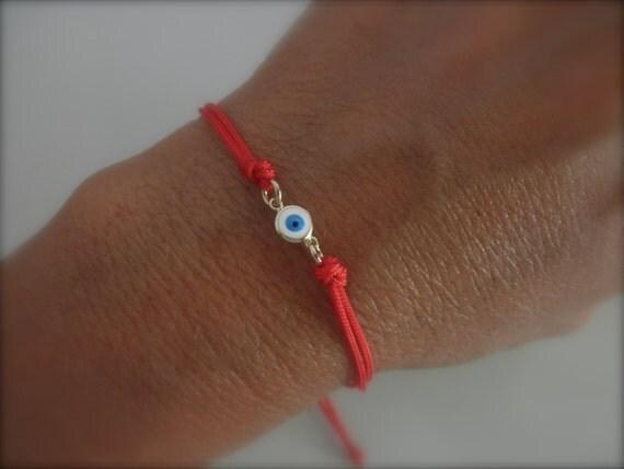 evil eye bracelet on a string red cord protection bracelet. Black Bedroom Furniture Sets. Home Design Ideas
