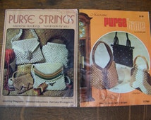 Vintage Macrame Books (set of 2) Macrame Purses. 1976 and 1978. 1970's Style. Macrame Tutorial. Macrame Cord. Vintage Purses. 1970s Clothes.