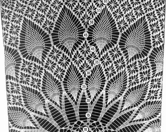 Design 7164 Crochet Pineapple Tablecloth crochet pattern