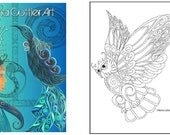 Adult Colouring Book by Reina Cottier -  Series One.