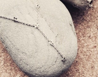 Counting Stars Sterling Silver Drop Necklace