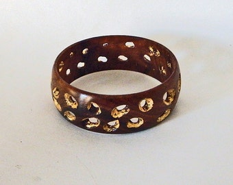 Midsummer Sale - 35% off! Wood bracelet with Golden Spaces