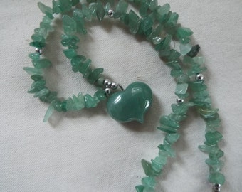 jade heart jade beads pendant necklace Valentines day