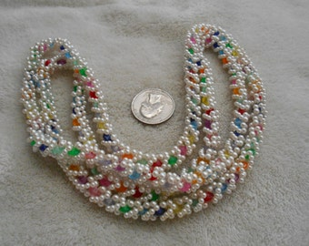 Vintage Necklace-Beautiful Hand Made Beaded-N1636