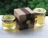 Honey Favors, Favor Boxes, Gold Embellishments, Wedding Favors, Honey Wedding Favors, Bridal Shower Favors, Honey Jars