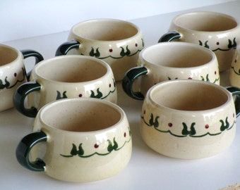 Metlox Poppytrail California Pottery Cups  Set of 8