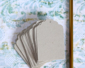 50 gray recycled tags