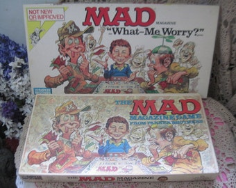 2 Mad Magazine Games 79 Version and 1988 Mad What -Me Worry Parker Brothers,Vintage Board Games,Mad,Board Games:)Not Included In Coupon Sale