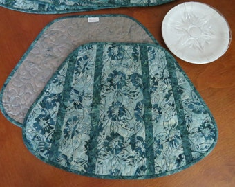 Quilted Jade Batik Placemats 483