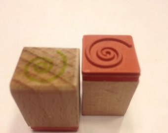 small swirl design rubber stamps, 16 mm (SB2)