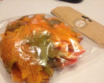 28 piece fabric leaf mix, 85 mm ,5264 (BR)