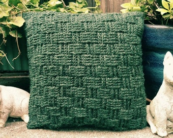 Crochet Basket Weave Cushion