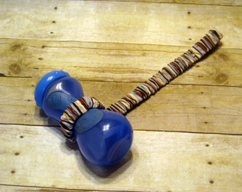 Sippy Cup Strap Blue, Chocolate, and Cream - Ready to Ship
