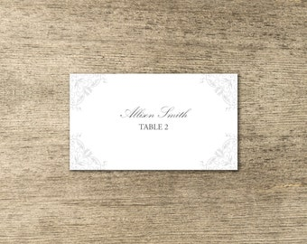 Traditional Classic Wedding Table Seating Cards Style 2