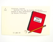 Harriet the Spy Library Card Art - Print of my painting on library card catalog card
