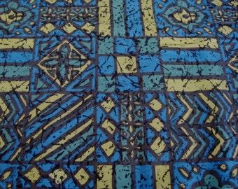 Vintage 1970's Batik Fabric - Retro Fabric - NOS Vintage Fabric - Batik Fabric - New Old Stock Fabric