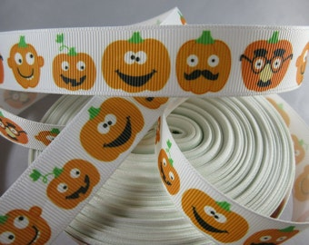 Pumpkin, Pumpkin ribbon, funny pumpkin, halloween ribbon, happy halloween ribbon, 7 8 Ribbon, RN14512