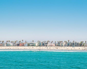 Venice Beach Horizon Wall Art Photo Print, Los Angeles, California