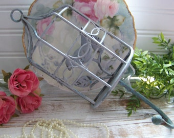 Metal Birdcage Hook, Gray Birdcages, Wall Decor, Home Decor, Birds, Hooks, Shabby Style, Cottage Chic, Gray, Romantic Birdcage, Cottage Home