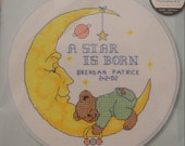 A Star is Born - Completed Cross Stitch Decoration