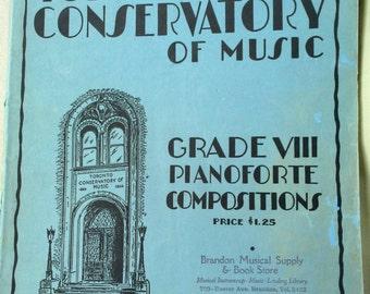 Royal Conservatory of Music, University of Toronto, Grades VIII Pianoforte Compositions, Heintzman and Co.