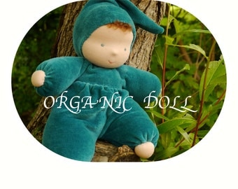 "ORGANIC Waldorf soft Doll 10"", Toddler doll,"