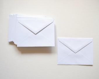 SALE - 25 Envelopes - White Envelopes - 4.25x5.75 Envelopes - Matte Envelopes - Wedding Envelopes - Cards - Paper Goods