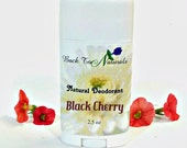 Black Cherry Deodorant Natural- Organic Deodorant Stick with Tea Tree Oil and Organic Coconut Oil - Homemade Deodorant Tube