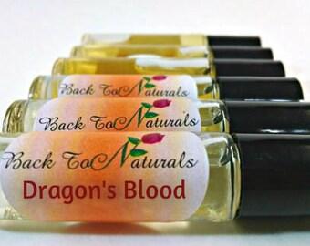 Dragon's Blood Fragrance Oil - Dragon's Blood Perfume Roll on bottle