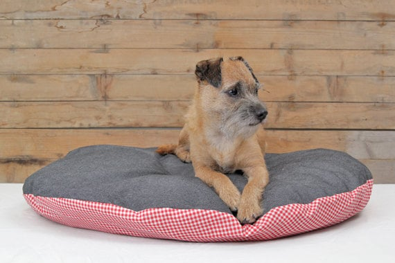 Canvas Amp Checkers Round Dog Bed Cover Designer By