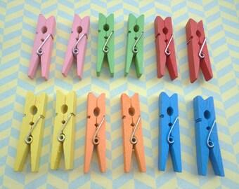 Sale--100pcsPink  color wood clip--45X9mm