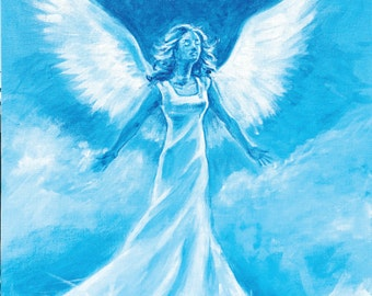 Angel canvas print from origional painting - A3