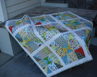 NEW*** Baby Traffic Quilt in Primary Colors