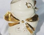 Vintage Figural Chick Creamer / Small Pitcher Shawnee Gold Kitsch
