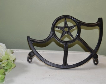 Antique Industrial Treadle Sewing Machine Wheel Guard Star design 1906