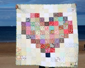Custom Made Quilt, Patchwork quilt, Handmade to Order, Heart Quilt, Bespoke quilt, Twin quilt, Throw, quilted blanket, Nursery Decor