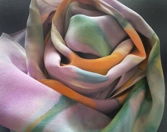 SOLD OUT - Made to Order Hand Painted Abstract Floral,Luxury Scarves,Accessories for women,Gifts for Her,Birthday,by Michele Morgan Art