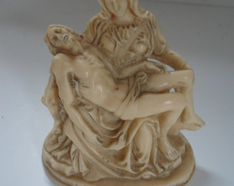 Vintage Resin Sculptor A. Santini Classic Figurine Made in Italy Pieta Figurine A. Santini Figurine